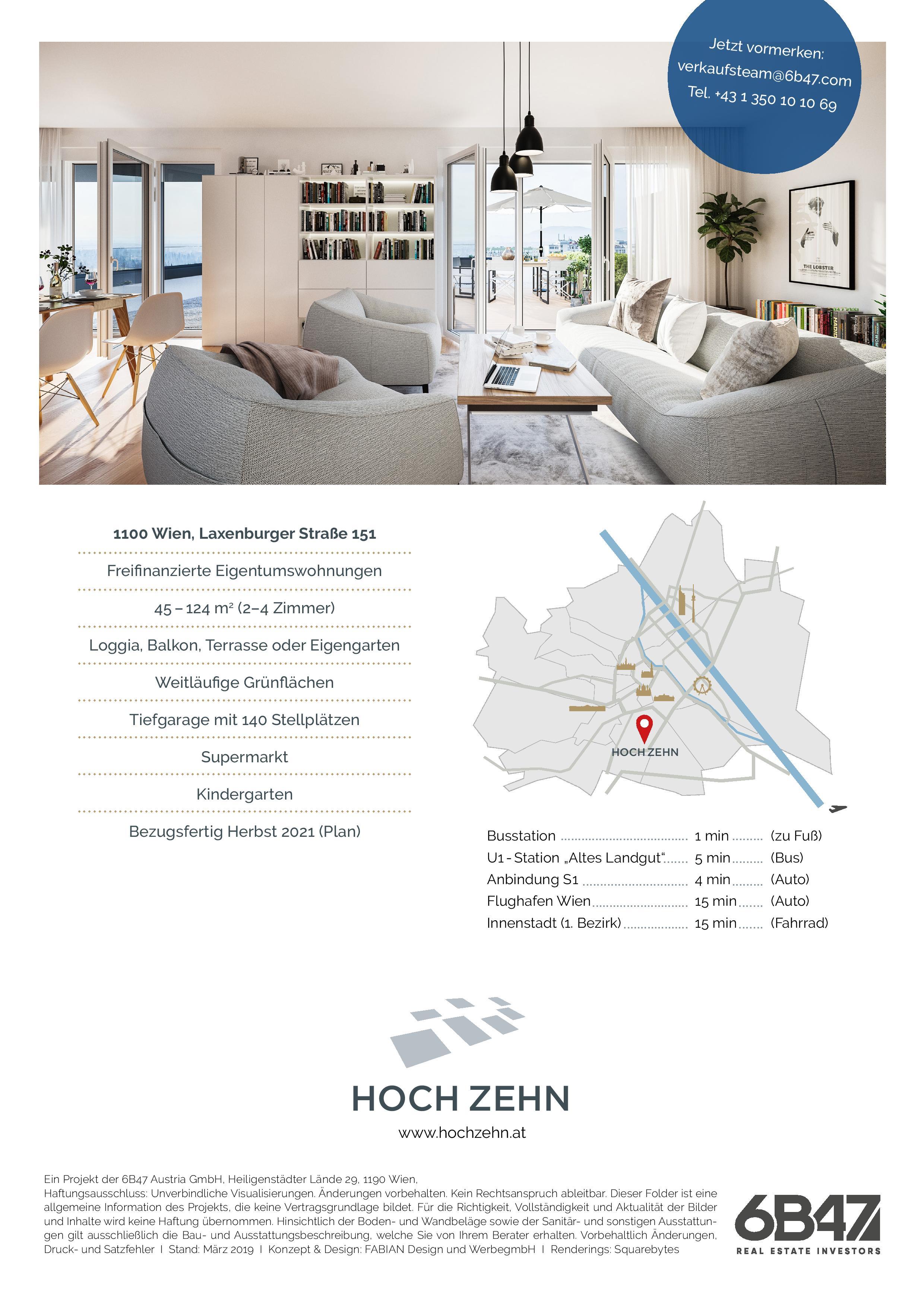 Wohnbauprojekt HOCH ZEHN